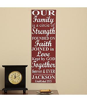 Our Family Circle Personalized Canvas - Choice of Colors