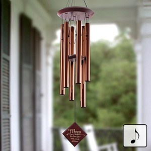 Personalized Wind Chimes for Mom - Mom will be reminded of your love for her whenever she hears the soothing notes from this lovely wind chime.
