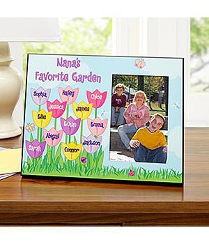 Personalized Tulip Garden Frame