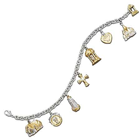 Thomas Kinkade Faith And Family Religious Charm Bracelet