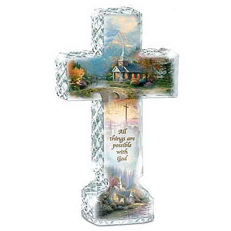 Thomas Kinkade Inspirations Of Hope Cross Sculpture