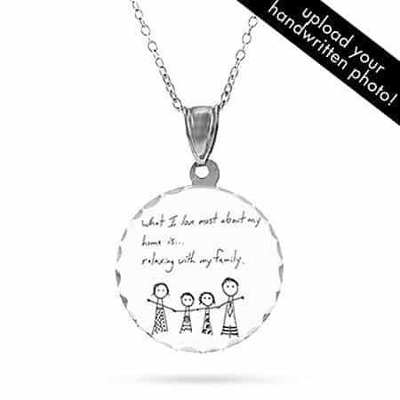 Personalized Handwritten Photo Necklace