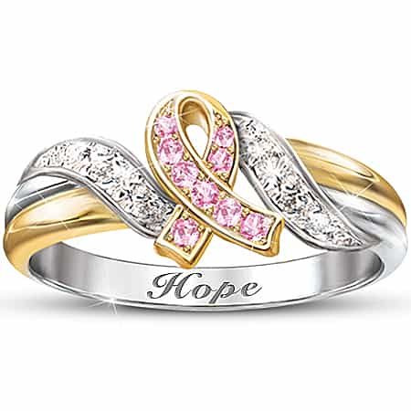 Hope's Embrace Engraved Ring