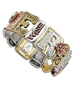 Sentiment Tile Bracelet - Choose Faith, Love, Family, or Mother