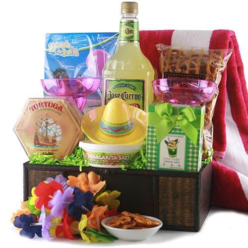 Tropical Treasures Margarita Gift Basket