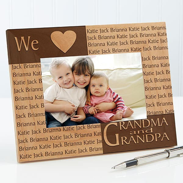 Top Grandparents Day Gifts 2017 - What grandparent wouldn't love this adorable personalized frame?