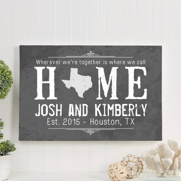State of Love Personalized Canvas