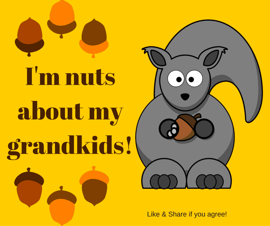 I'm nuts about my grandkids!