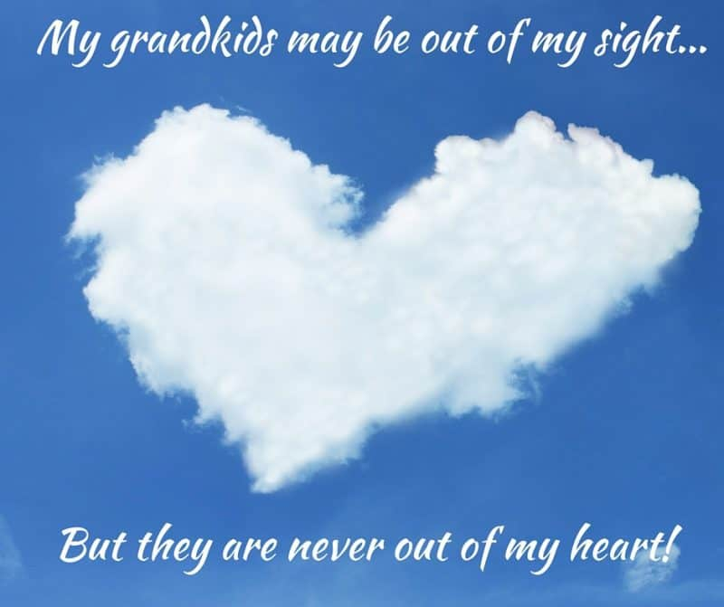 My grandkids may be out of my sight...but they are never out of my mind!