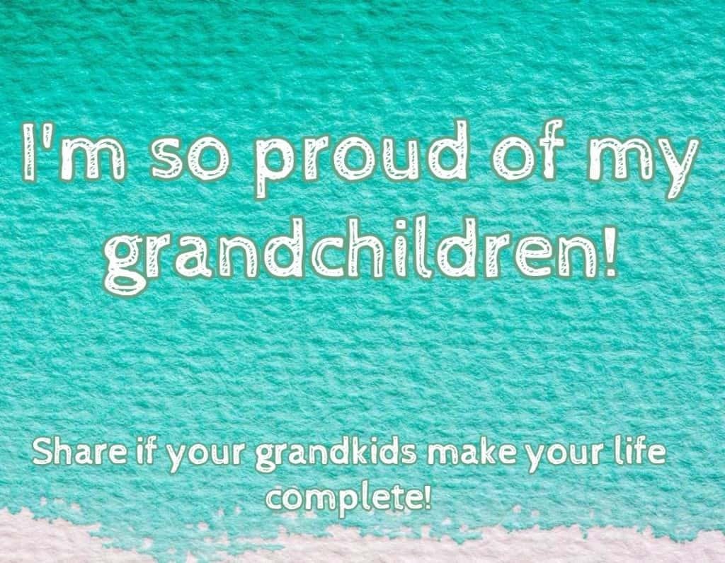 im so proud of my grandchildren
