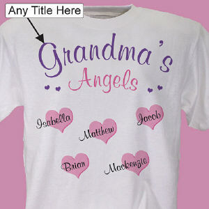 You love being a Mom or a Grandma. Now show off your kids and grandkids with this delightful Personalized Shirt! Free personalization includes with any title and up to 30 children or grandchildren's names.