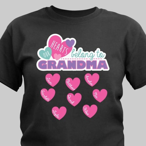 Grandma has a long list of people who love and cherish her. This design is available on our premium 100% cotton t-shirt.<br/><br/>Personalize any title and up to 12 names. We just know Grandma will wear this shirt with pride.