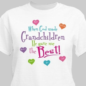 Proudly show off the whole family on this attractive personalized T-shirt. Includes FREE Personalization with up to 30 names and any title.