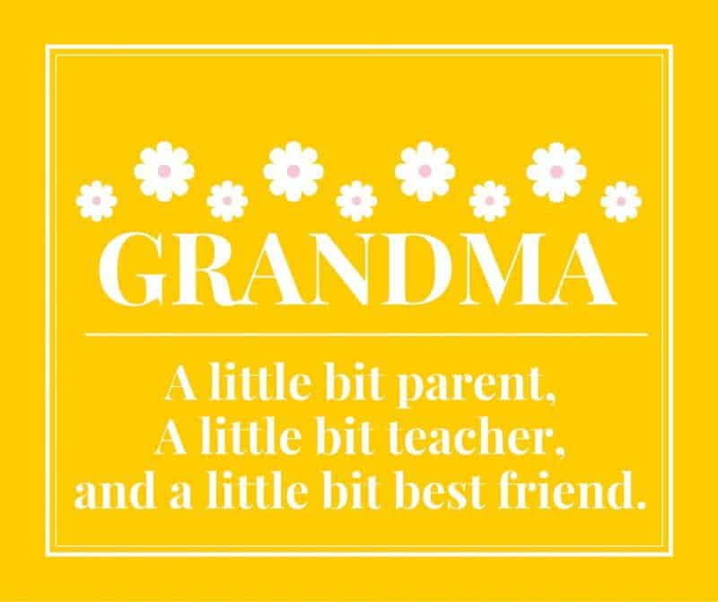 Grandma – A little bit parent, a little bit teacher, and a little bit best friend.