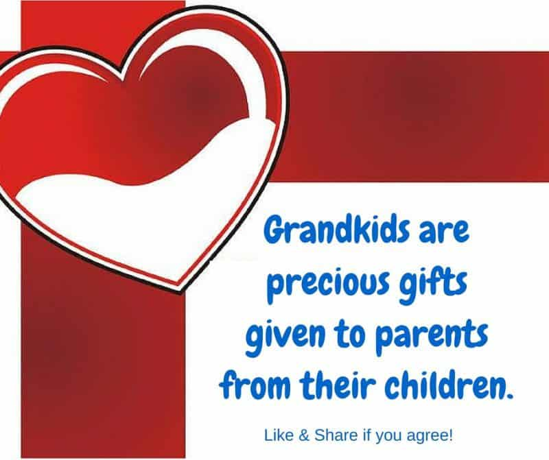 Grandkids are precious gifts given to parents from their children.