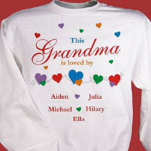 Show off your kids or grandkids with our heartwarming personalized shirt design.  Includes free personalization of any title and up to 30 children's names.