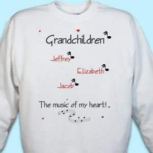 Let the music created by children sing loudly in your heart as your proudly wear this Personalized Sweatshirt.  Includes FREE Personalization with any title and up to 30 Names.