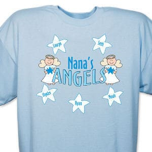 Your children are heaven-sent angels and they mean the world to you. They have filled your heart with love and happiness from the moment they arrived. Personalization of your shirt is free and includes any title like Grandma