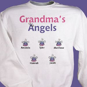 Why not show off the whole family on an attractive and comfortable sweatshirt which includes FREE personalization!<br/><br/>Add up to 30 names and any title or nickname at the top.