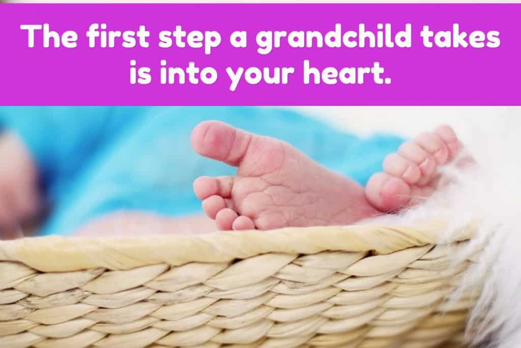 The first step a grandchild takes is into your heart.