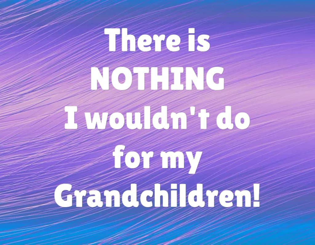 There is NOTHING I wouldn't do for my grandchildren!