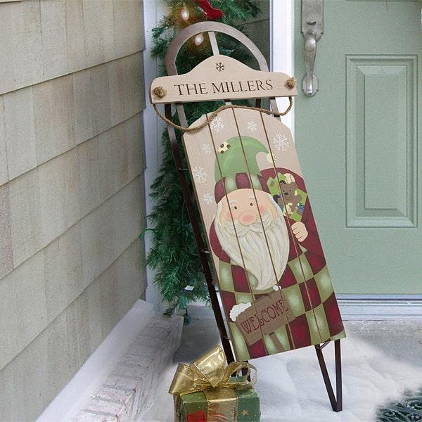 Personalized Vintage Santa Sled