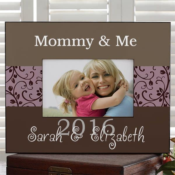 Last Minute Mother's Day gifts 2017 - Adorable frame features 3 lines of personalization.  Ships in just 1 day, so it's perfect for a last minute gift!