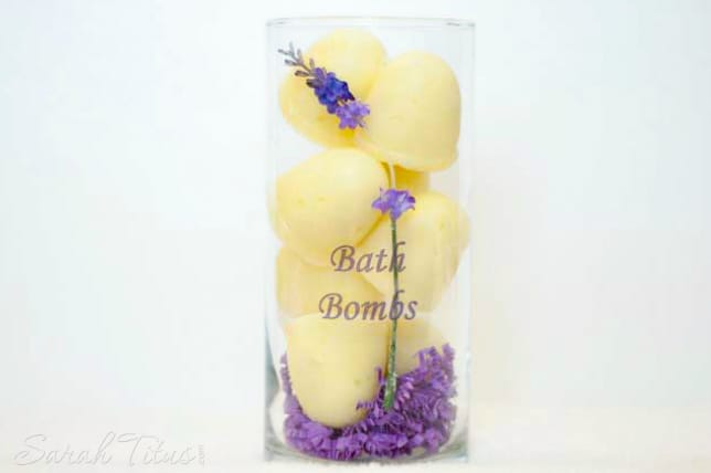 This is a great basic (and easy) recipe for making bath bombs. Just use any essential oil that you like to add fragrance.