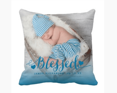 Blessed Photo Keepsake Pillow