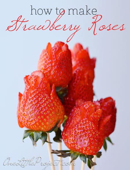 Adorable strawberry roses are a lovely accent to your Mother's Day breakfast or brunch - and they just take a few moments!