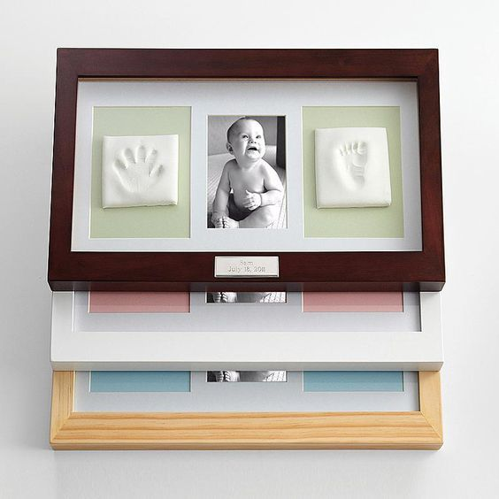 First Mother's Day Gift from Baby - Beautiful frame preserves those precious hand and footprints so that Mom can always remember just how tiny and sweet they were.