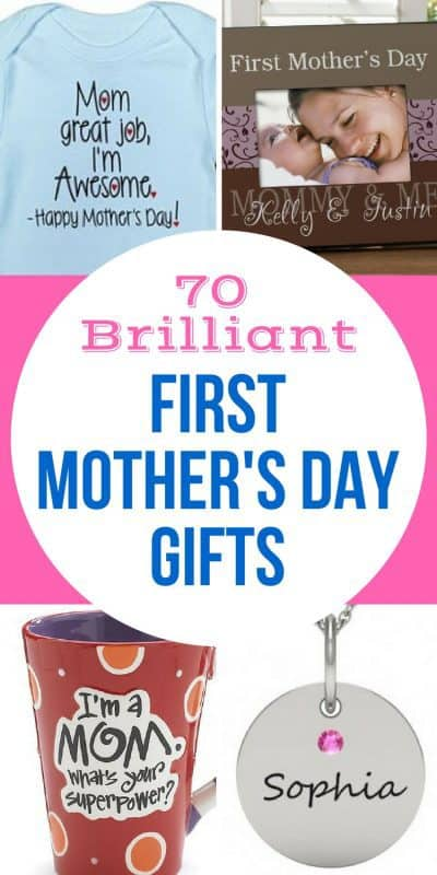 First Mother's Day Gifts 2017 - Thrill the new mom with one of these delightful 1st Mother's Day gifts. Find the perfect present to make Mother's Day 2017 memorable!