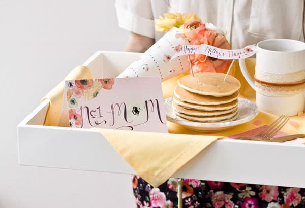 Cute Mother's Day printables  make even the most simple Mother's Day breakfast a special occasion!