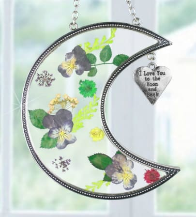 I Love You to the Moon and Back Suncatcher - a cute little gift