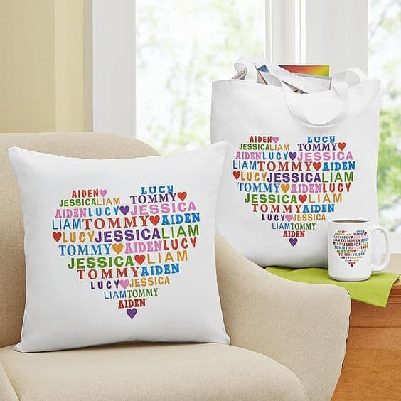 Surround Grandma with love this Mother's Day - and all year round!  Adorable heart full of love design comes in 7 different gifts...with prices starting at under $20.  #grandma #mothersdaygift #giftsforher