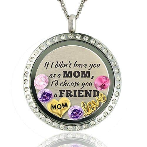 How sweet is this Mother's Day necklace for Mom?