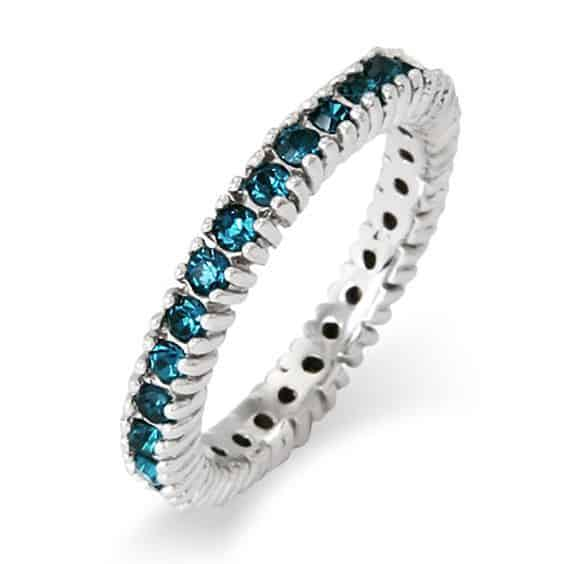 Stackable Birthstone Eternity Ring