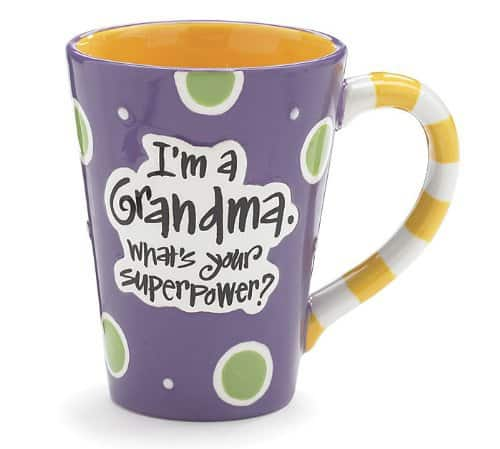 Funny Mother's Day Gifts for Grandma - Cheerful mug is the perfect little gift to brighten Grandmother's morning each day!