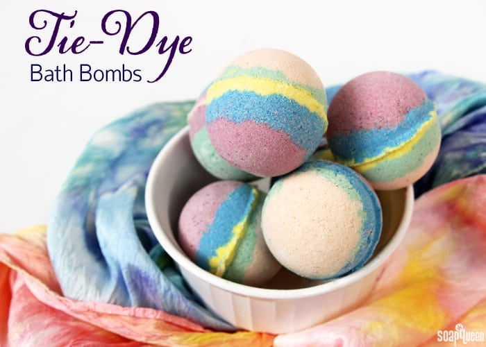 These groovy tie-dye bath bombs are a blast from the past! She even recommends using