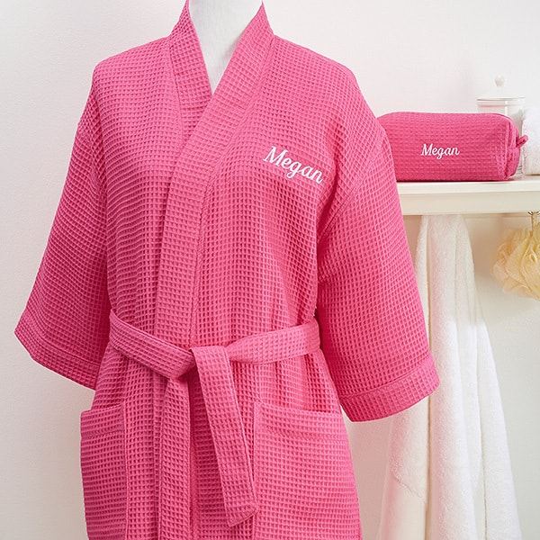 Pamper a special lady this Mother's Day with a personalized robe, slippers or toiletries bag that's custom made just for her!