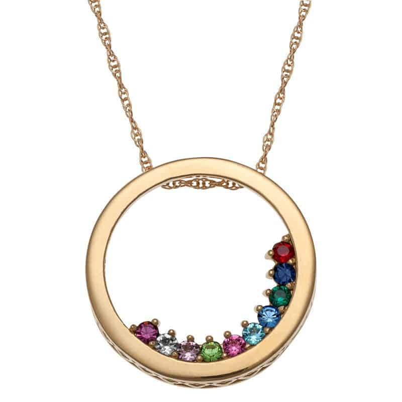 Gold Grandmother Birthstone Necklace Under $50