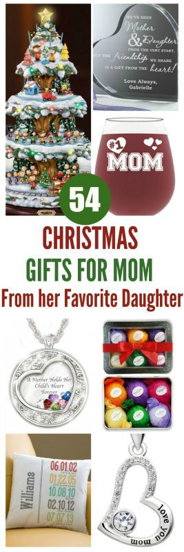 Christmas Gifts for Mom from Daughter - Become Mom's favorite child this Christmas (and make your siblings jealous) with a stunning Christmas gift that shows Mom just how much you love her.