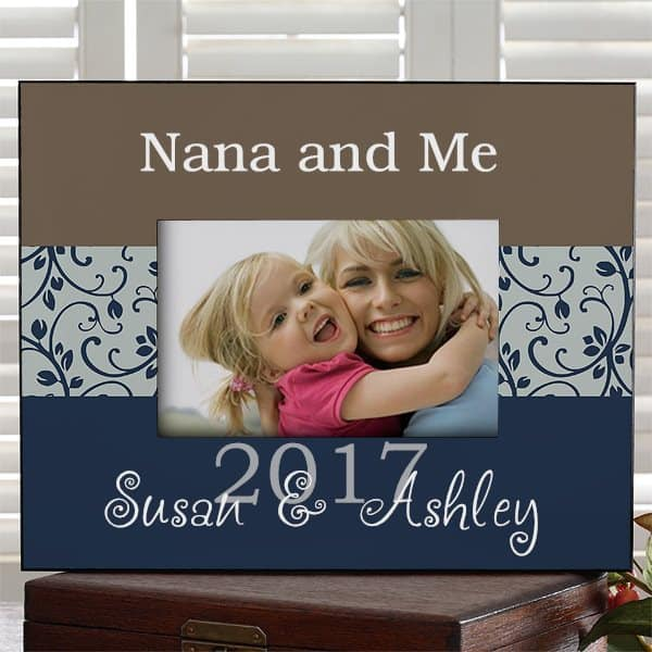 Gifts for Nana - Adorable personalized picture frame is a cute (and affordable) Mother's Day, Christmas or birthday gift for Nana.  Add 3 lines of text and a favorite picture to create a present Nana will love!  #nanalife  #nana #motherdaygift
