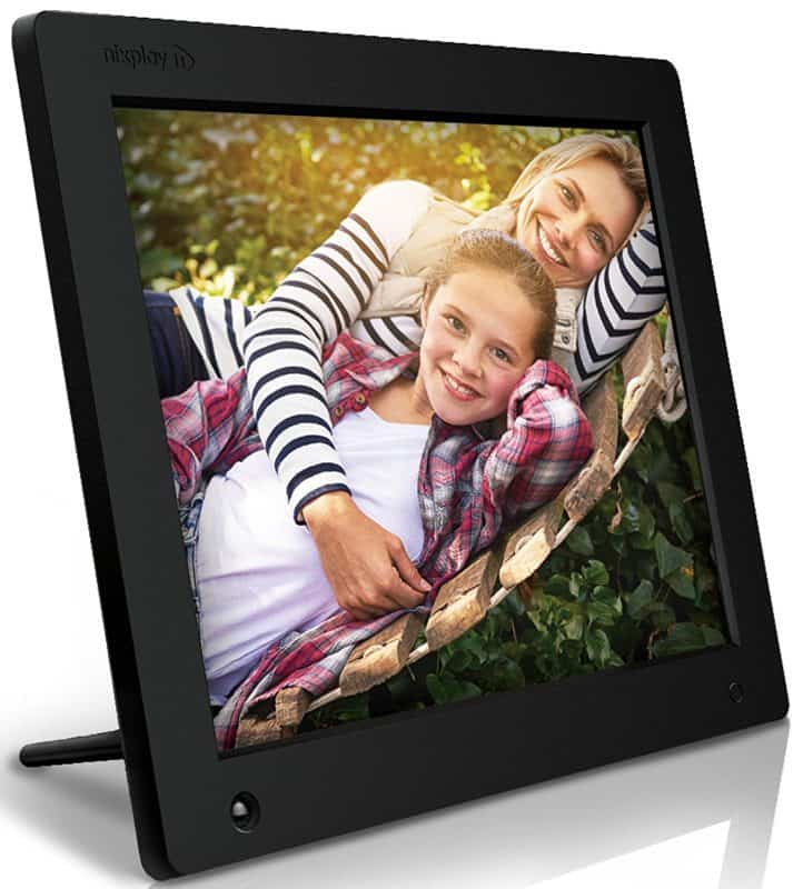 Digital photo frame is a Mother's Day gift that can be enjoyed for years!  Look for one like this that you can add pictures to remotely.