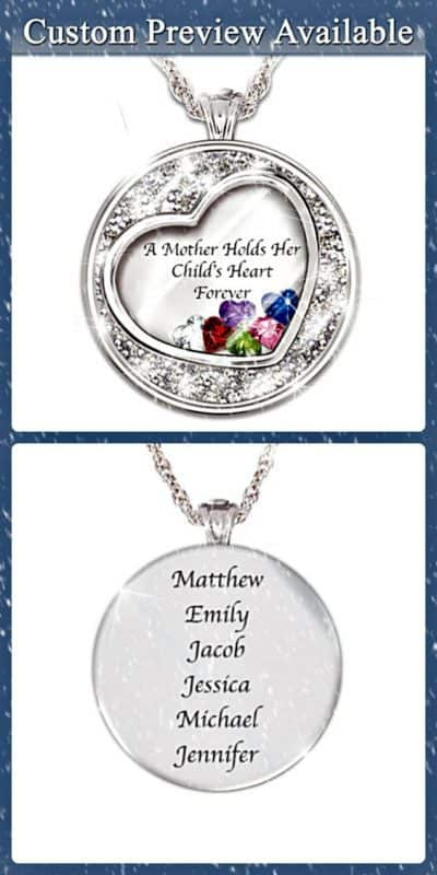 Mother's Day Gifts from Daughter 2017 - Thrill Mom this Mother's Day with this beautiful personalized birthstone necklace.