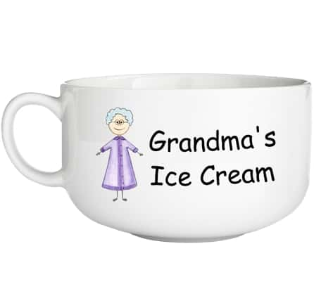 Cute cartoon character personalized bowl is a fun gift for grandparents for any occasion!
