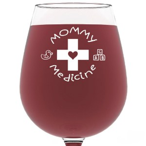 "Funny Mothers Day Gifts for Mom - Make Mom's ""me time"" more fun with a funny wine glass chosen just for her!"