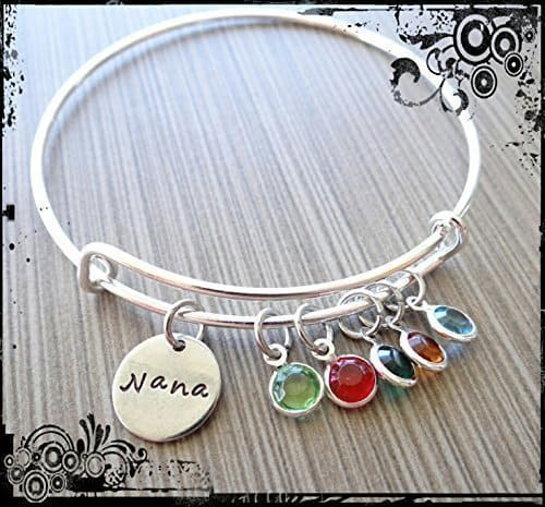 Nana bracelets - how cute is this trendy birthstone bangle?  Fabulous Mother's Day or Christmas gift for Nana!
