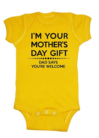 Mother's Day Gift Ideas for New Moms - how adorable is this 1st Mother's Day baby onesie?