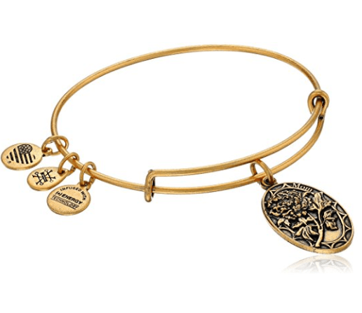 "Trendy Alex and Ani ""Because I Love You Mom"" bracelet is a stylish last-minute Mother's Day gift!"